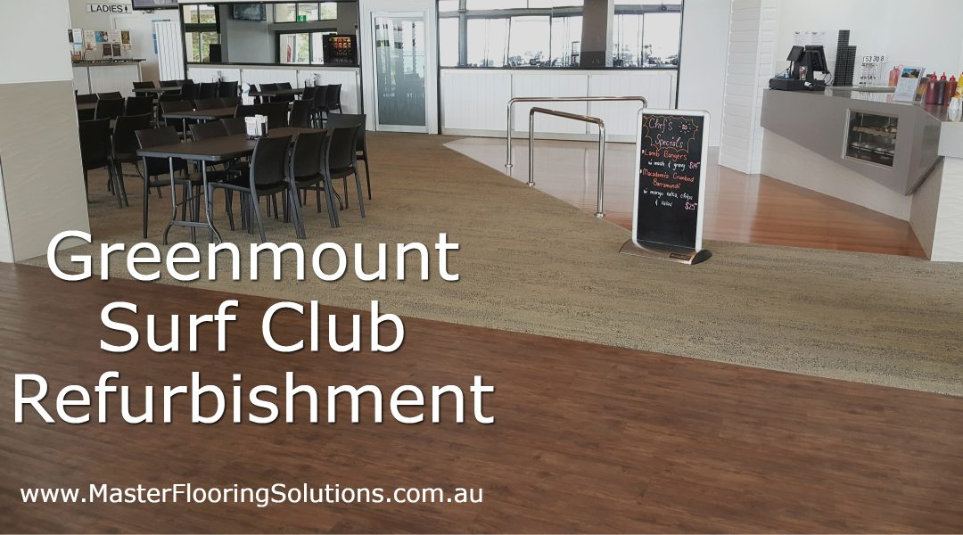 New Commercial Flooring  at Greenmount Surf Club