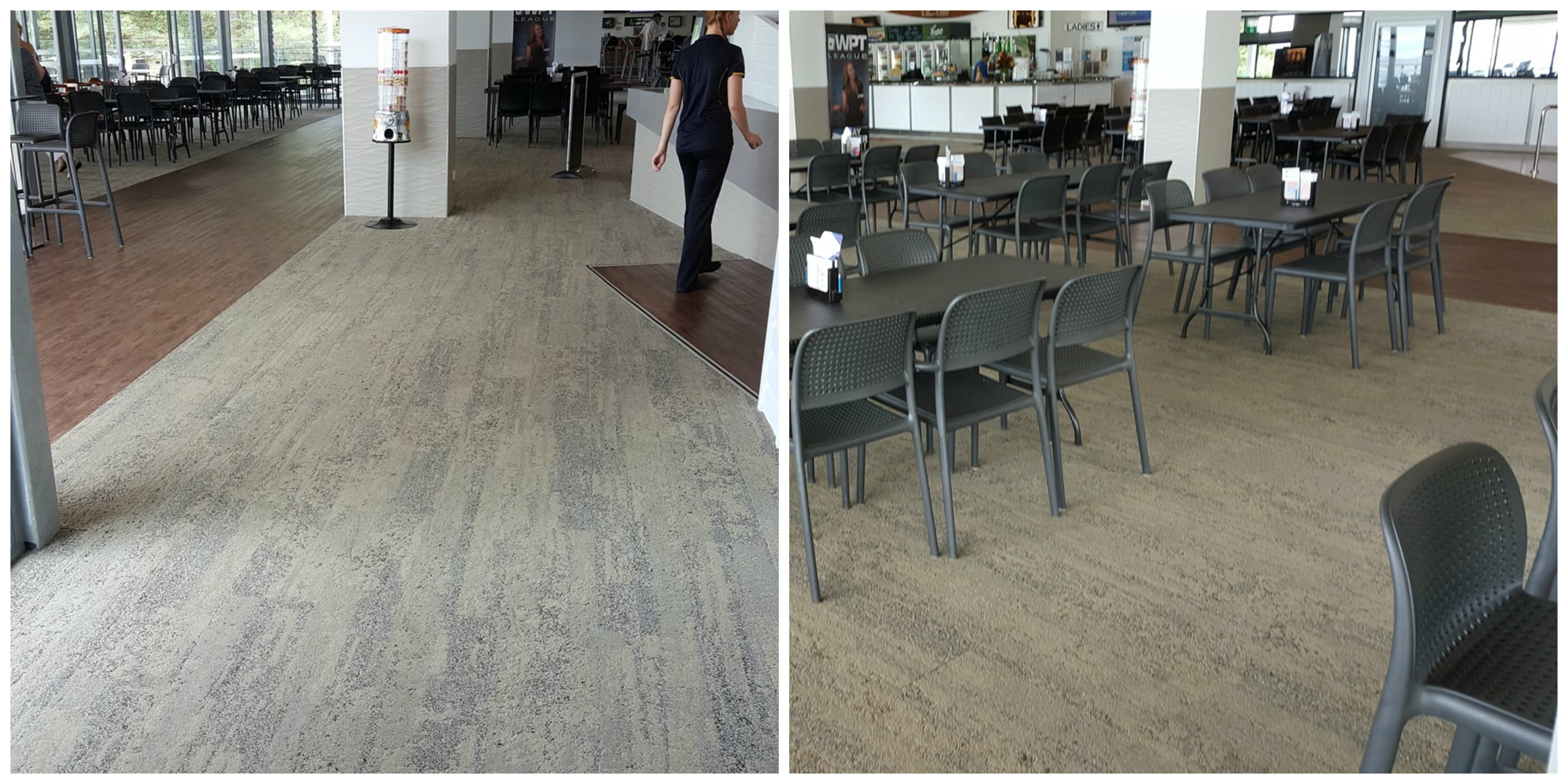 New commercial flooring, club carpet, vinyl planks, carpet planks, Master Flooring solutions