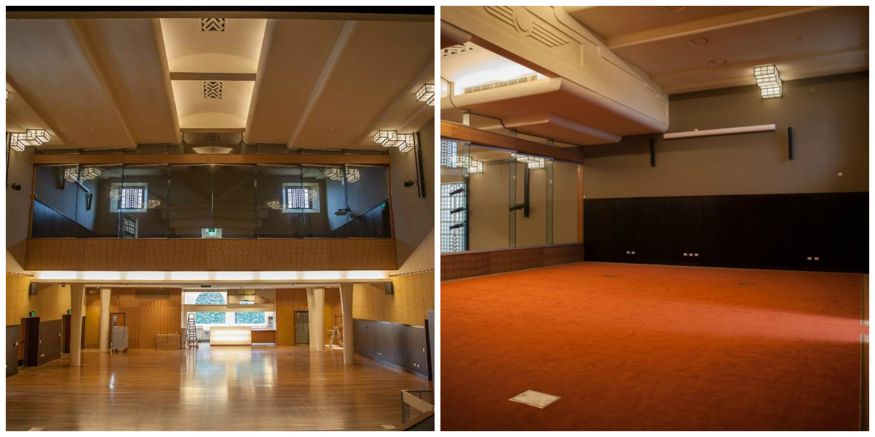Autex Etch installers, Toowoomba Town Hall renovation, acoustic paneling, Master Flooring Solutions
