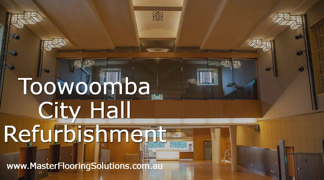 Toowoomba City Hall refurbishment, Autex Etch installation, acoustic solutions, Master Flooring Solutions